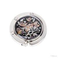 Wholesale New Brand New Plum blossom Pattern Floral Round Folding Handbag Purse Hanger Hook Holder
