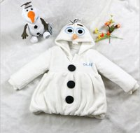 Wholesale One Piece Anime Movie Snow Olaf costume Age Snowman Berber Fleece Winter Very Warm Coat Hoody Jacket new arrive free ship