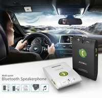 Wholesale New Product Universal Dual Standby Sunvisor Car Bluetooth V4 Handsfree Speakerphone In Retail Box