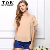 Cheap TOB 20 colors batwing sleeve chiffon blusa de renda women candy colors shirt tops new 2015 summer perspective chiffon top Q016
