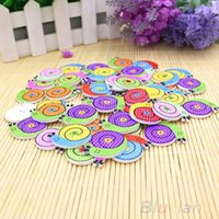Wholesale 50pcs Lovely Sewing Cartoon Animal Wood Buttons Holes Knopf Bouton MZR PPV