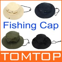 Wholesale 2014 NEW Colors Outdoor Cotton Fishing Camping Hiking Sun Cap Round Rim Men Women Hat Quick drying Hat