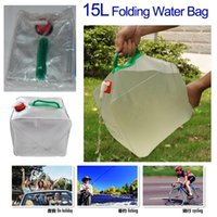 plastic carrier bags - L PVC Carrier Collapsible Water Container Folding Water Bag For Camping Fishing Cycling