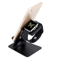 aluminium desk display - Aluminum Charging Stand Holder Dock Desk Display Cradle Built In Slots for iWatch iPhone Plus S Samsung S6 Edge Smartphones