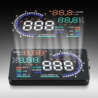Wholesale 5 quot Screen Auto Car HUD Head Up Display KM h MPH Overspeed Warning Windshield Project Alarm System OBDII or EUOBD Interface order lt no t