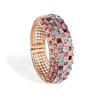 Asian & East Indian bangle sets online - Luxury Ladies Bangles Colorful Crystal Rhinestone Bracelets Fashion Style Bracelets for Ladies Vintage Jewelry Online