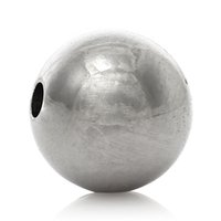 Wholesale Stainless Steel Spacer Beads Round Silver Tone Solid About mm quot Dia Hole Approx mm new