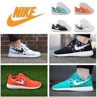 sporting goods - 2015 Nike Roshe Run Shoe Nike Running Shoes Mens Athletic Good Shoes Womens Sports Shoes Soft Walking Shoe colors black white