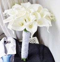 Wholesale Hot Sale pcse White Color Calla Lily Artificial Flowers Wedding Bouquet Latex Real Touch Flower Bouquet