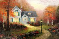 autumn thomas - The Blessings of Autumn Thomas Kinkade Paintings on Canvas Wall Art High quality Hand painted