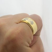Band Rings batman symbols - New Gold Men Batman Superman Superhero Symbol L Stainless Steel Ring Cool