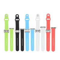 Cheap silicone wristband for apple watch Best wirst band strap with adapter 38mm 42mm
