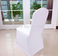 Wholesale Factory price Universal Polyester Spandex Wedding Chair Covers for Weddings Banquet Folding Hotel Decoration white
