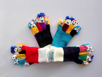 Wholesale New Arrival Winter Fashion Kids Thick Knitted Gloves Boy Girl Unisex Cartoon Face Finger Christmas Warm Gloves U2001