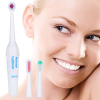 Wholesale New Electric Massage Toothbrush Massager Waterproof Automatic Tooth Brushes Massager Toothbrushes Oral Hygiene Dental With three brush ESUSA