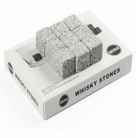 Stone bar granite - New Set Ice Cube Whisky Stones Drinks Cooler Cubes Beer Rocks Granite Pouch Drink Cooling Ice Melts Bar Coolers With retail package