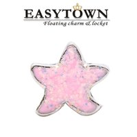 Wholesale 2016 pink starfishcharms new hot sale floating charm fits lockets for women jewelry