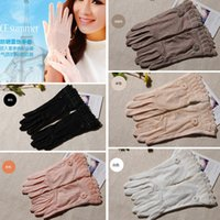 Wholesale Holesale High Quality Elegant Women Sunscreen Outdoor Sun UV Protection Long Driving Lace Ice silk Gloves