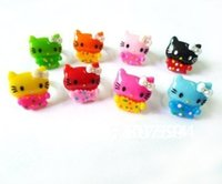 baby boys jewellery - 50Ps Acrylic crystal resizable Rings baby finger ring lovely hello kitty rings fashion jewelry jewellery JR36