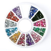 Wholesale 1200pcs Colors Nail Art rhinestones Acrylic Nail Decoration For UV Gel Iphone laptop DIY HS21042