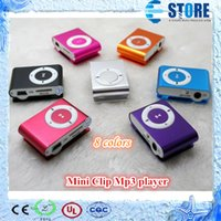 32gb micro sd card - 8 colors Mini Clip Mp3 player with earphones usb cables retail box support Micro SD TF card GB Sport Mp3 DHL Free wu