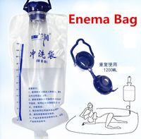 Cheap 1200ml Water Liquid Cleansing Enema Bag BDSM Bondage Adult Anal Sex Toys For Women Anus Cleaning Feminine Hygiene (Ranlun)
