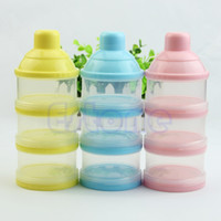 Wholesale Portable Baby Infant Feeding Milk Powder Food Bottle Container Cells Grid Box order lt no track