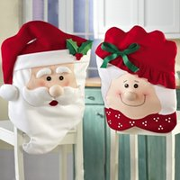 christmas decoration santa claus - Zorn Store Santa Claus Christmas Kitchen Chair Covers Christmas Decorations Office Chair Christmas Decorations Winter Decorations