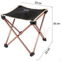 aluminium folding chairs - Outdoor Foldable Folding Fishing Picnic BBQ Garden Chair Tool Square Camping Stool Aluminium Alloy