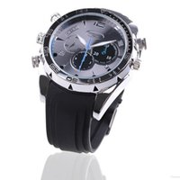 Wholesale 8GB TO GB Watch with Night vision Waterproof HD1080P Camera Video Recorder Hidden DVR Camcorder DV A5