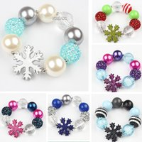 Wholesale Infinity Bracelets with Charm Snowflakes Beads Bracelet Crystal DIY Disco Ball Christmas Ornaments bracelets jewelry for Baby Children