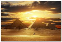 amazing pictures animals - Egyptian pyramids Silk Poster Travel Landscape Picture Amazing Sunset x36 quot