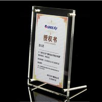 acrylic certificate frames - New Fashion A5 Size Acrylic Certificate Frame Hot Selling Clear Prexiglass Business Licence Display Frame PF002