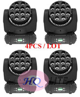 4pcs / lot 4in1 RVB DMX LED mini faisceau de lavage tête mobile 12x10w Inno couleur faisceau 12