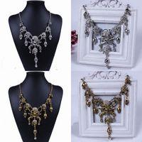 Wholesale Fashion Women Skull Bubble Bib Statement Necklace Stylish Lady Rhinestone Chokers Necklace Charms Jewelry Wedding Party Gifts XL5407