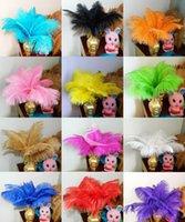 Wholesale 100pcs cm Colored mix fluffy ostrich plumage feathers for wedding party table decoration centerpieces bulk sale