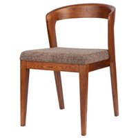 Wholesale Nordic furniture solid wood dining chair Japanese style fraxinus mandshurica and walnut dining chair