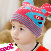 Wholesale Earmuffs MZ0025 mo han edition men and women in the fall and winter baby newborn children wool hat Cartoon hat