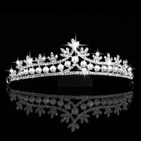 Wholesale In Stock Rhinestone Crystal Pearl Wedding Party Prom Homecoming Crown Hairband Princess Bridal Tiaras Hair Accessories Fashion On Sale