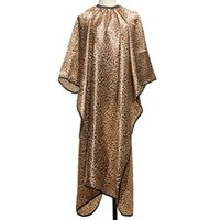 Wholesale 1Pcs Leopard Hair Cape Hairdressing Cut Salon Hairstylist Barber Gown Cloth Sleeve Wrap Styling Tools