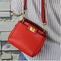 Wholesale 2015 Fashion Women Handbag Genuine Leather handbags Famous Brand Women Cross body bag Mini Cat Single shoulder bag Korean Chain Bag AAA