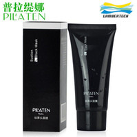 Wholesale 60g Pilaten Black Mask Blackhead Remover Deep Cleansing Face Mask Tearing Style Resist Oily Skin Strawberry Nose Acne Remover Black Mud Mask