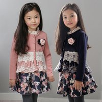 baby outerwear sale - Girls Jackets Coat Winter Fashion Warm Hot Sale Clothes Childrens Baby Kids Girls Lace Fashion coat outerwear Clothing ZZ