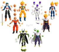 ball joint plastic - Christmas gift set Dragon Ball Z Joint Movable Vegeta Piccolo Son Gohan Son Goku Trunks PVC Action Figure Toys gift