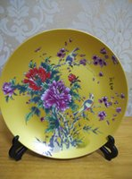 Wholesale plate art plate ceramic party gift plate exhibition plate E1