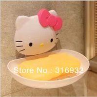 Wholesale P2 Hello kitty creative soap holder box water soap care tray
