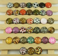 bracelet connectors - new HOT selling mixes beautiful Alloy Glass Chunk Snap Button charm fit NOOSA bracelet diy charm Jewelry Accessories mm h01