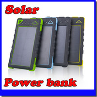 Cheap NEW 20000mAh 2 USB Port Solar Power Bank Charger External Backup Battery With Retail Box For iPhone iPad Samsung Mobile Phone