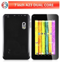 Wholesale allwinner A23 Dual Core M G Dual Cameras Capacitive Screen Android tablet with flashlight