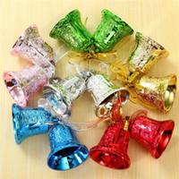 Wholesale 12pcs Christmas Tree Jingle Bell Retail Christmas Decor DIY Fashion Antique Colorful Charms Fit European items